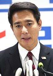 <民進代表選>前原氏が出馬表明 蓮舫氏と対決