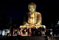 <長谷の灯かり>晩夏、光で彩る 鎌倉大仏など8カ所