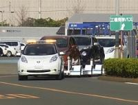<日産>完成車を自動運転車で搬送 追浜工場で導入
