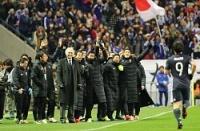 <サッカー日本代表>日本、タイに快勝 暫定首位に浮上