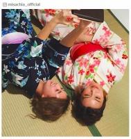 AAA宇野実彩子&伊藤千晃、浴衣姿の添い寝ショット公開に「色っぽい」「可愛すぎ」の声