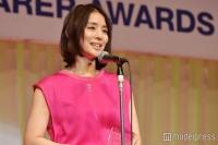 石田ゆり子、21年ぶり2度目の快挙に感慨 変わらぬ美貌を披露