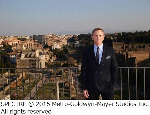 「007 スペクター」物語の片鱗、ローマでのメイキング映像も公開。