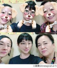 篠田麻里子インスタに能年玲奈の姿、渡辺えり交えた異色3ショット。