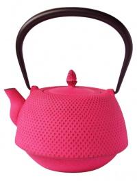 南部鉄器カラーポット 欧州では紫、日本ではピンクが人気
