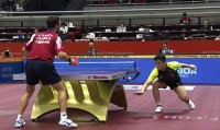 【動画】世界が驚いた中国卓球選手の「神技」、予想外の状況に対戦相手もあ然