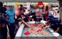 【動画】非常識な韓国市民にびっくり!イベント用のリンゴをわれ先にと持ち去る