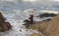 岩場で写真撮影の中国人観光客夫婦、高波にさらわれる、ガイドの制止聞かず―米国