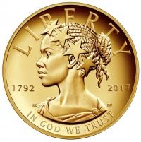 米100ドル記念金貨のデザイン、初の「アフリカ系自由の女神」に