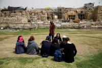 イスラエルの古代都市でローマ時代の神殿復元、考古学の拠点に