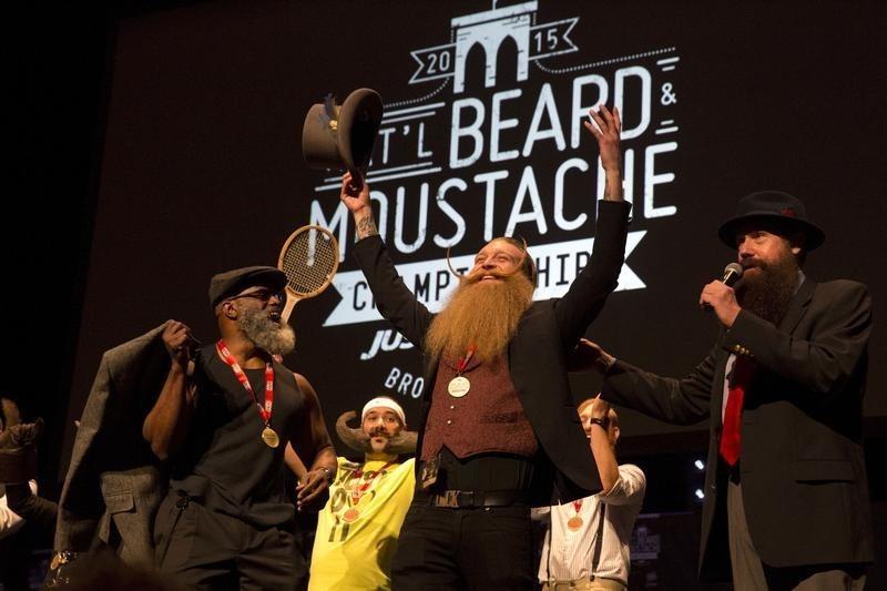 ニューヨークで「ひげ自慢」大会、世界から数百人集結