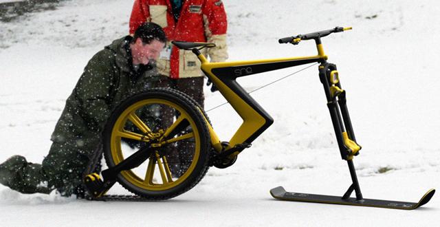 スイスイ。雪の日だって自転車 ...