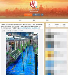 「桜ラッピング地下鉄」に中国ネット民、ダサいダサいの大合唱=中国版ツイッター