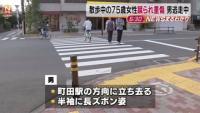 東京・町田市、散歩中の75歳女性蹴られ重傷