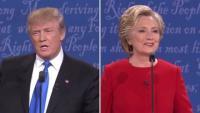 クリントン氏が積極的に論戦、トランプ氏は守勢の場面も
