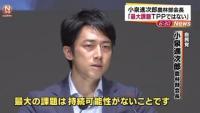 小泉進次郎農林部会長「最大課題TPPではない」