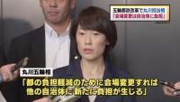 五輪都政改革で丸川担当相「会場変更は自治体に負担」