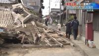 震度6弱から一夜、県中部を中心に大きな被害