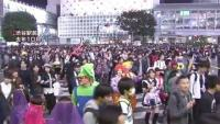 渋谷駅前の一部、ハロウィーンで歩行者天国に