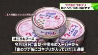 山梨県で販売のツナ缶にゴキブリ、はごろも公表・回収せず