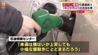 ガソリン価格 6週連続値上がり、1年2か月ぶりの高値水準