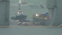 韓国セウォル号の船体一部が浮上、3年前に沈没