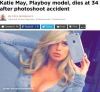 米・美人プレイメイト急死 撮影中の事故が原因か