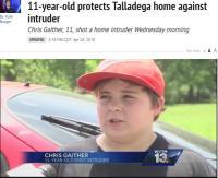 不法侵入者に発砲した11歳少年「撃たれた男は泣いてたよ」(米)