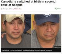 41年前の新生児取り違えが発覚 親友同士2名、記者会見で泣き崩れる(カナダ)
