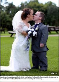 小人症のカップル 高リスク乗り越え出産、念願の結婚式を行う(英)