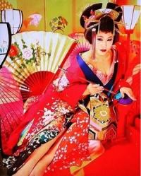 花魁姿のバービー(出典:https//www.instagram.com/fallin.love.barbie)