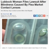 カラコンで細菌感染により失明した米女性 「フリマ業者の違法販売」と高額訴訟へ