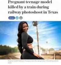 線路内で撮影中のモデル、列車にはねられ死亡(米)