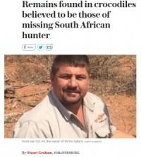 狩猟中にハンター、ナイルワニ2匹の餌食に(ジンバブエ)