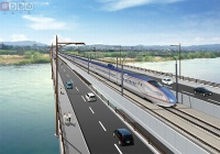 新幹線とクルマが同じ橋を並走 日本初、新幹線と道路の「併用橋」登場へ