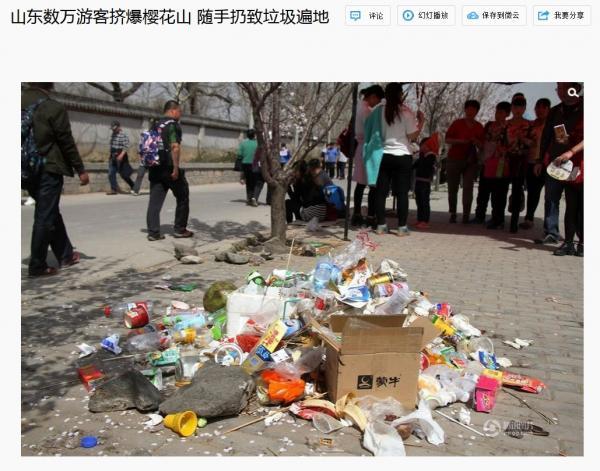 山東省の桜の名所に数万人、辺り一面ゴミだらけ・・「どうして急に全国で桜を?」「やっぱり桜の起源は日本に…」―中国ネット