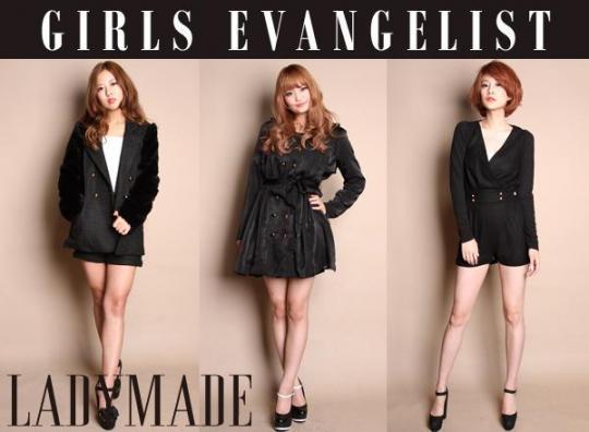 LADYMADEからカリスマショップ店員『GIRLS EVANGELIST』がデビュー!
