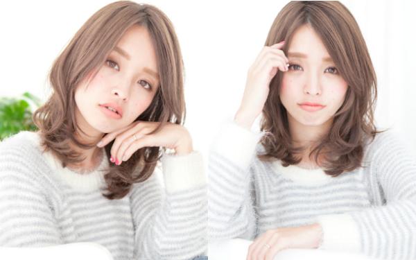 ナチュラル&小顔効果抜群!前髪ナシで魅せる、最新ミディアムヘアBEST5|ウーマンエキサイト コラム