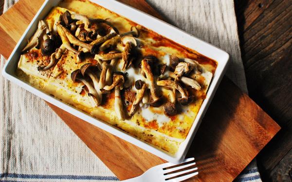 お豆腐ダイエットレシピ「チーズ無しでも大満足! アツアツ和風豆腐グラタン」