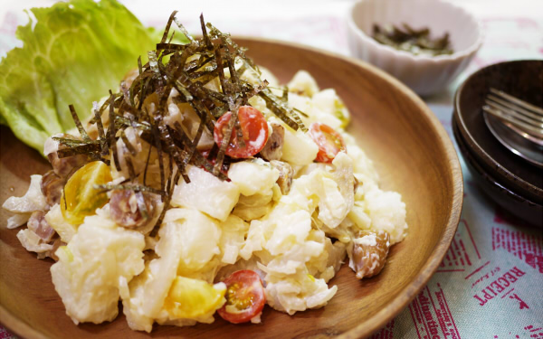 蓮根と山芋でポテトサラダを作ったらダブルでほくほくしてウマすぎた