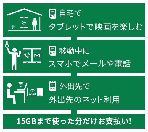 メインスマホ + ネット利用のみ + 屋外でのネット利用