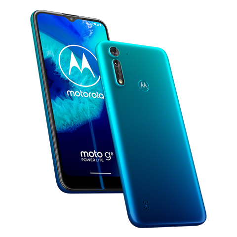 motorola moto g8 POWER LITE skyblue