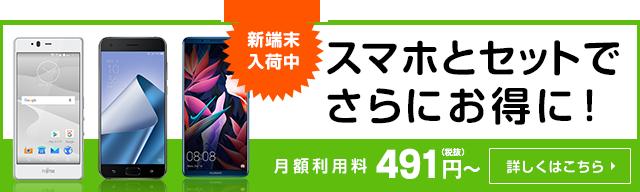 月額491円〜|スマホとセットでさらにお得に!