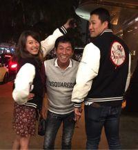 里田まい、さんまと夫・田中投手の3ショット公開「最高で夢のような幸せな時間」