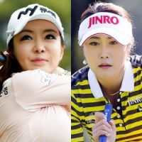 韓国美女ゴルファーを徹底比較「アン・シネvsキム・ハヌル」(1)シネの日本初見参に観客が殺到