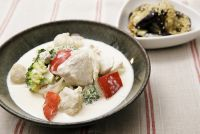 おいしくやせる 旬のおかずダイエットレシピ ゴロゴロ野菜が食べ応え抜群なまんぷくダイエットレシピ「チキンクリームシチュー」