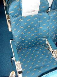 体の大きい人は2座席分のチケットが必要、というサイズポリシー