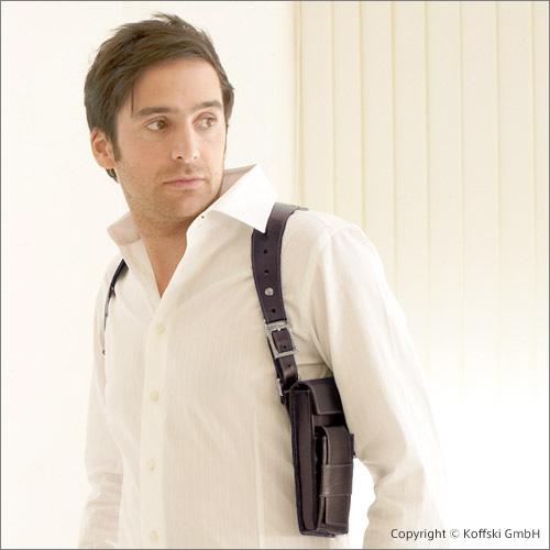 拳銃を収めてるように見せかけた、健全なバッグ
