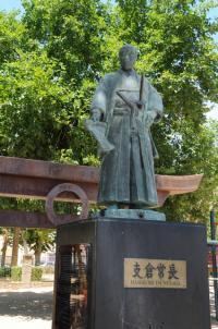 サムライの銅像も立つ、400年前からスペインで暮らす日本人子孫の集落