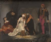 ポール・ドラローシュ 《レディ・ジェーン・グレイの処刑》 1833年 油彩・カンヴァス ロンドン・ナショナル・ギャラリー蔵<br />Paul Delaroche, The Execution of Lady Jane Grey, (C) The National Gallery, London. Bequeathed by the Second Lord Cheylesmore, 1902